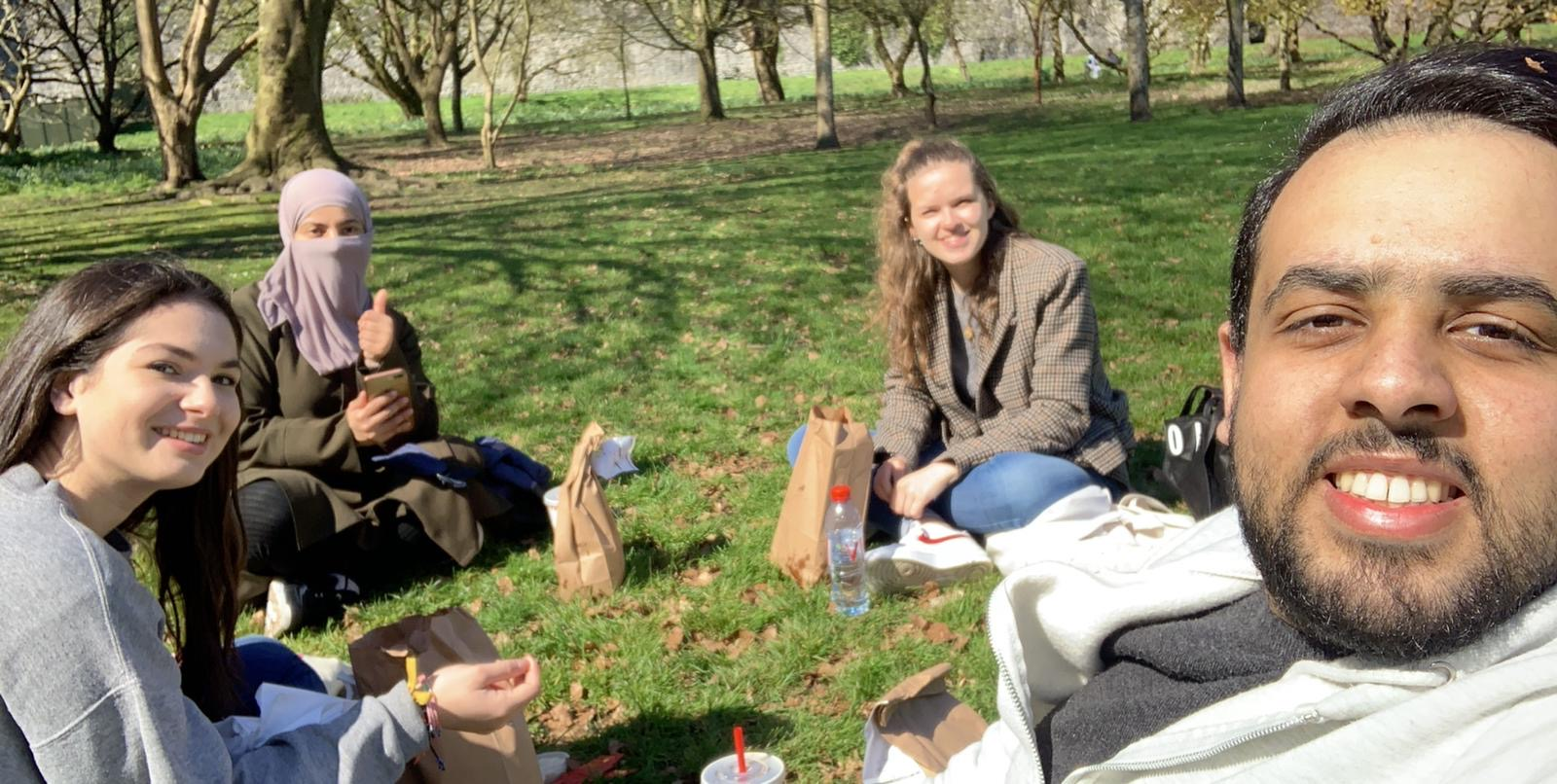 Laura and her friends in Bute Park