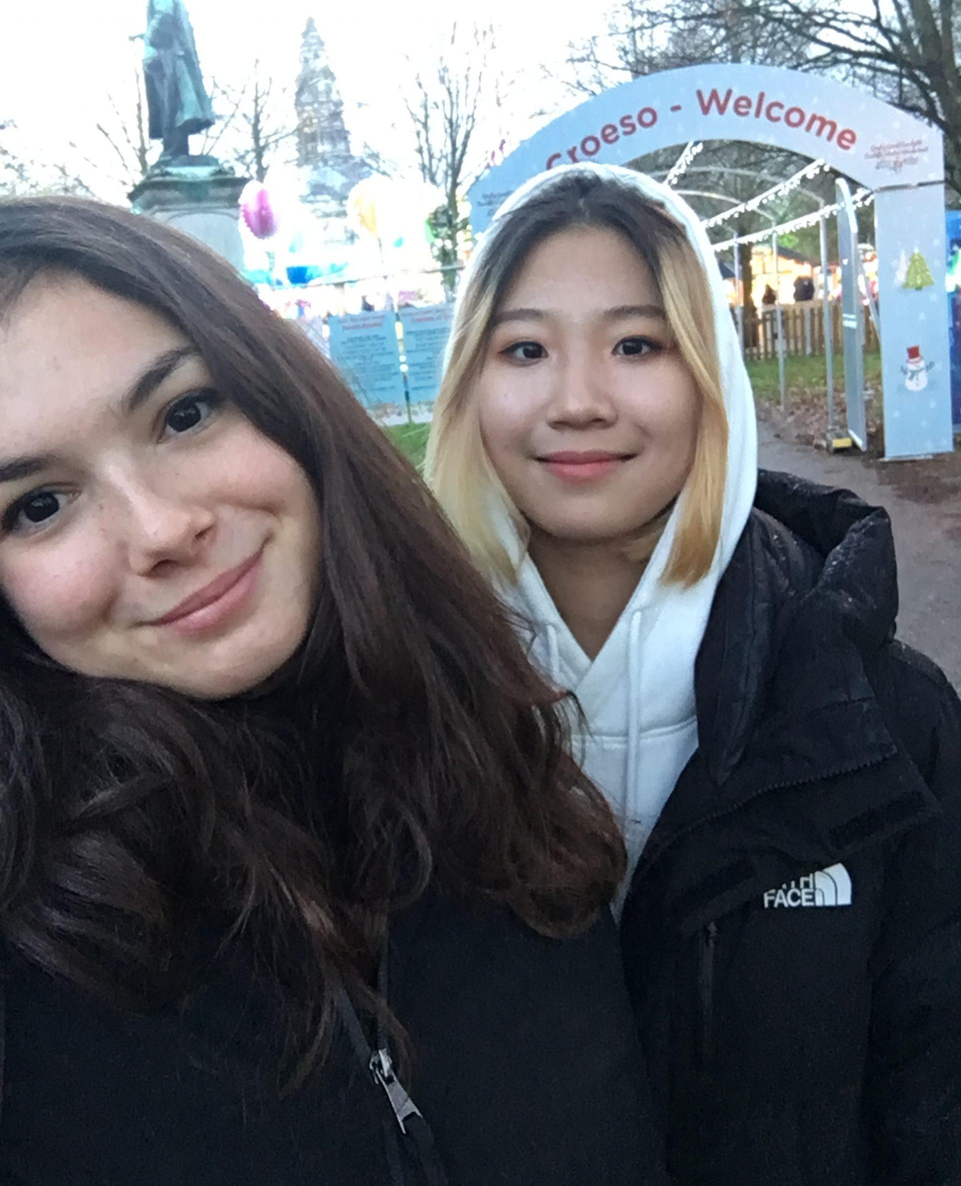 Laura and her friend at Winter Wonderland