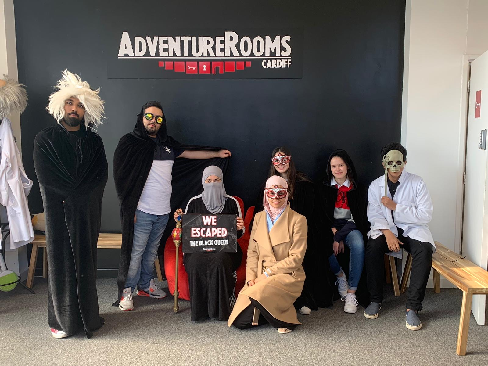 Laura and her friends at Adventure Rooms