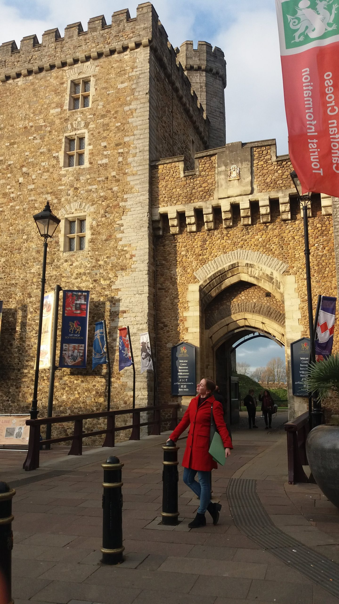 Jitka at Cardiff Castle