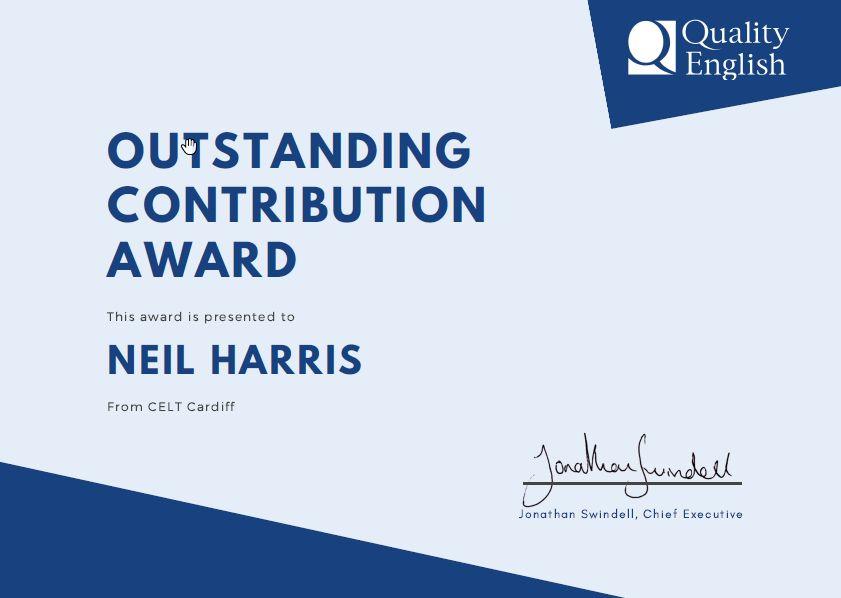 Neil Harris Outstanding Contribution Award
